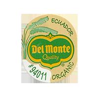 Del Monte Quality ORGANIC #94011  21,9 x 26,9 mm paper before 2012 Ecuador unique