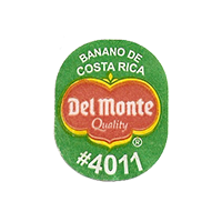 Del Monte Quality BANANO DE COSTA RICA #4011  20,3 x 25 mm paper before 2012 Costa Rica unique