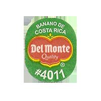 Del Monte Quality BANANO DE COSTA RICA #4011  20,3 x 25 mm paper before 2012 Costa Rica unique