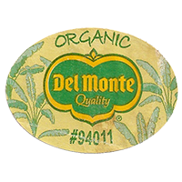 Del Monte Quality ORGANIC #94011  43,8 x 31,8 mm paper before 2012 unique