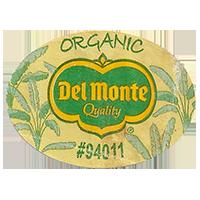 Del Monte Quality ORGANIC #94011  43,8 x 31,8 mm paper before 2012 unique