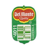 Del Monte Quality #4011  20 x 31,8 mm paper before 2012 Guatemala unique