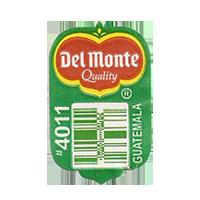 Del Monte Quality #4011  20 x 31,8 mm paper before 2012 Guatemala unique