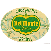 Del Monte Quality ORGANIC #94011  44,4 x 31,8 mm paper before 2012 unique
