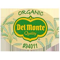 Del Monte Quality ORGANIC #94011  44,4 x 31,8 mm paper before 2012 unique