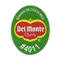 Del Monte Quality BANANO DE COSTA RICA #4011  25 x 31,8 mm paper before 2012 Costa Rica unique