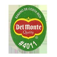 Del Monte Quality BANANO DE COSTA RICA #4011  25 x 31,8 mm paper before 2012 Costa Rica unique