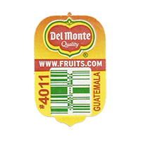 Del Monte Quality WWW.FRUITS.COM #4011  20 x 31,7 mm paper before 2012 Guatemala unique