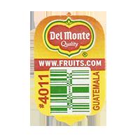 Del Monte Quality WWW.FRUITS.COM #4011  20 x 31,7 mm paper before 2012 Guatemala unique