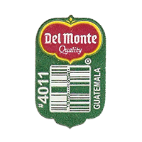Del Monte Quality #4011  19,6 x 31,4 mm paper before 2012 Guatemala unique