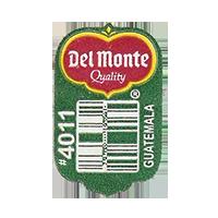 Del Monte Quality #4011  19,6 x 31,4 mm paper before 2012 Guatemala unique