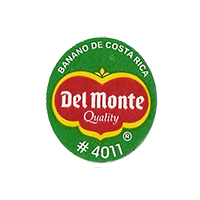 Del Monte Quality BANANO DE COSTA RICA #4011  22 x 24,8 mm paper before 2012 Costa Rica unique