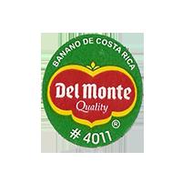 Del Monte Quality BANANO DE COSTA RICA #4011  22 x 24,8 mm paper before 2012 Costa Rica unique