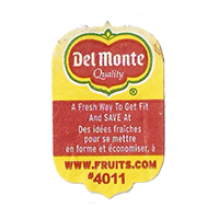 Del Monte Quality A Fresh Way To Get Fit And SAVE At WWW.FRUITS.com #4011  20,1 x 31,7 mm paper before 2012 unique