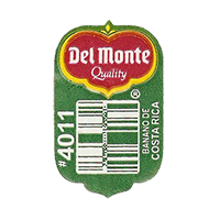 Del Monte Quality BANANO DE COSTA RICA #4011  19,6 x 31,5 mm paper before 2012 Costa Rica unique