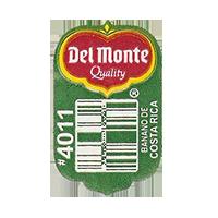 Del Monte Quality BANANO DE COSTA RICA #4011  19,6 x 31,5 mm paper before 2012 Costa Rica unique