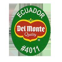 Del Monte Quality #4011  25,1 x 31,9 mm paper 2012 DK Ecuador unique