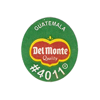 Del Monte Quality #4011  22,3 x 25,1 mm paper before 2012 NB Guatemala unique