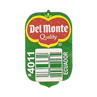 Del Monte Quality #4011  19,2 x 31,5 mm paper before 2012 AA Ecuador unique