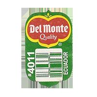 Del Monte Quality #4011  19,2 x 31,5 mm paper before 2012 AA Ecuador unique