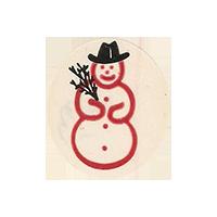 Del Monte  snowman  22,4 x 25,6 mm paper 2012 KČ unique