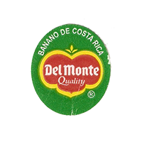 Del Monte Quality BANANO DE COSTA RICA  22 x 25,2 mm paper before 2012 Costa Rica unique