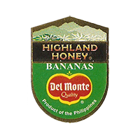 Del Monte Quality HIGHLAND HONEY BANANAS  22 x 29,8 mm paper 2012 KČ Philippines unique
