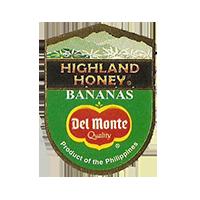 Del Monte Quality HIGHLAND HONEY BANANAS  22 x 29,8 mm paper 2012 KČ Philippines unique