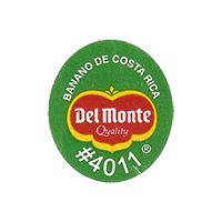 Del Monte Quality BANANO DE COSTA RICA #4011  22,1 x 25,2 mm paper 2012 KČ Costa Rica unique