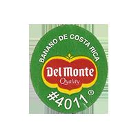 Del Monte Quality BANANO DE COSTA RICA #4011  22,1 x 25,2 mm paper 2012 KČ Costa Rica unique