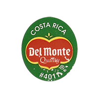 Del Monte Quality #4011  22,2 x 25,4 mm paper 2012 KČ Costa Rica unique