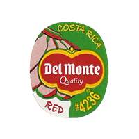 Del Monte Quality RED #4236  22,2 x 26,8 mm paper 2012 KČ Costa Rica unique
