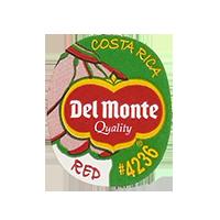 Del Monte Quality RED #4236  22,2 x 26,8 mm paper 2012 KČ Costa Rica unique