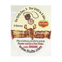 Del Monte  Pirates Caribbean Disney SWANN www.fruits.com  25 x 32 mm paper 2012 KČ unique