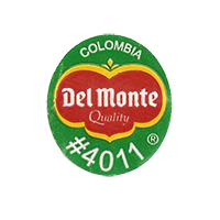 Del Monte Quality #4011  22,2 x 25,2 mm paper before 2012 Colombia unique