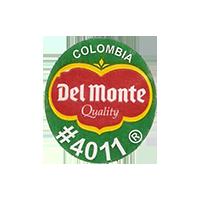 Del Monte Quality #4011  22 x 24,5 mm paper 2012 J Colombia unique