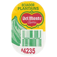 Del Monte Quality PLANTAINS #4235   20 x 31,8 mm paper 2016 PM Ecuador unique
