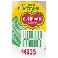 Del Monte Quality PLANTAINS #4235   20 x 31,8 mm paper 2016 PM Ecuador unique