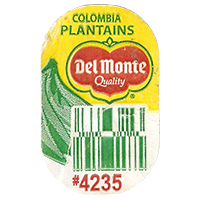 Del Monte Quality PLANTAINS #4235  0 x 0 mm paper 2017  Columbia unique