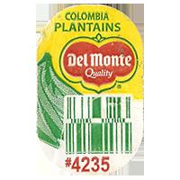 Del Monte Quality PLANTAINS #4235  0 x 0 mm paper 2017  Columbia unique