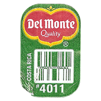 Del Monte Quality PLANTAINS #4011  0 x 0 mm paper 2017  Costa Rica unique