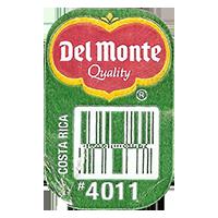 Del Monte Quality PLANTAINS #4011  0 x 0 mm paper 2017  Costa Rica unique