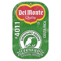 Del Monte Quality SUSTAINABLY GROWN CERTIFIED SCS GLOBAL SERVICES #4011  0 x 0 mm paper 2017  Costa Rica unique