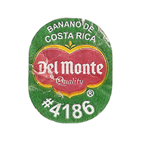 Del Monte Quality PLANTAINS BANANO DE COSTA RICA #4186  0 x 0 mm paper 2017  Costa Rica unique