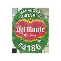 Del Monte Quality PLANTAINS BANANO DE COSTA RICA #4186  0 x 0 mm paper 2017  Costa Rica unique