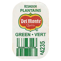 Del Monte Quality PLANTAINS GREEN VERT #4235  0 x 0 mm paper 2017  Ecuador unique