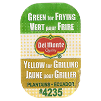 Del Monte Quality Green for Frying Vert pour Frire Yellow for Grilling Jaune pour Griller PLANTAINS #4235  0 x 0 mm paper 2017  Ecuador unique