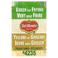 Del Monte Quality Green for Frying Vert pour Frire Yellow for Grilling Jaune pour Griller PLANTAINS #4235  0 x 0 mm paper 2017  Ecuador unique