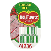 Del Monte Quality RED #4236  0 x 0 mm paper 2017  Ecuador unique