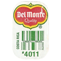 Del Monte Quality # 4011  0 x 0 mm paper 2017 ML Costa Rica unique